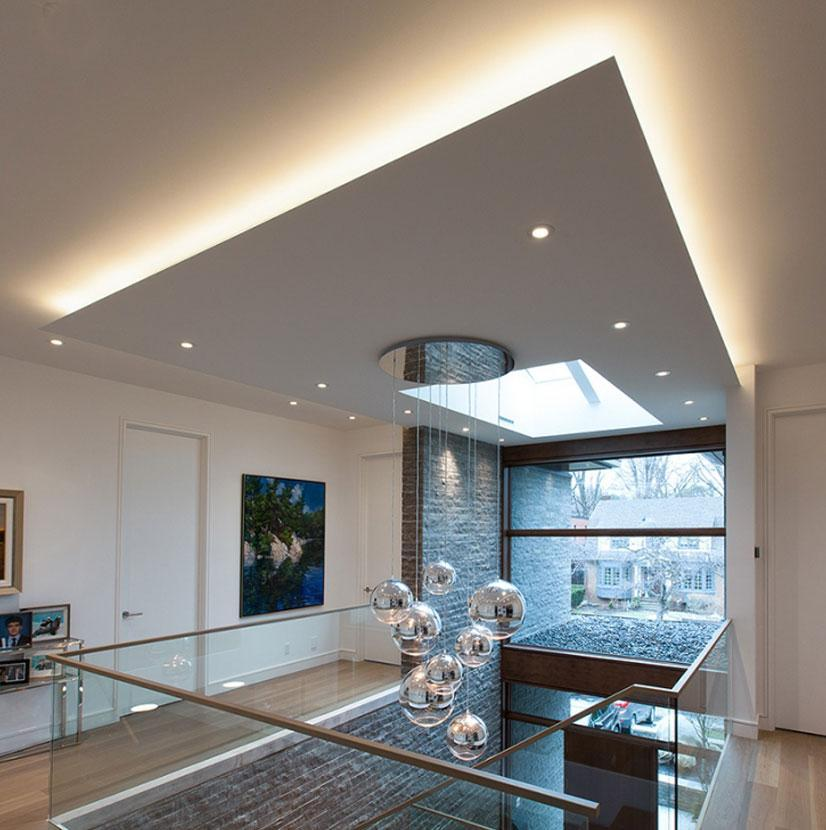 Living room drop ceiling lighting