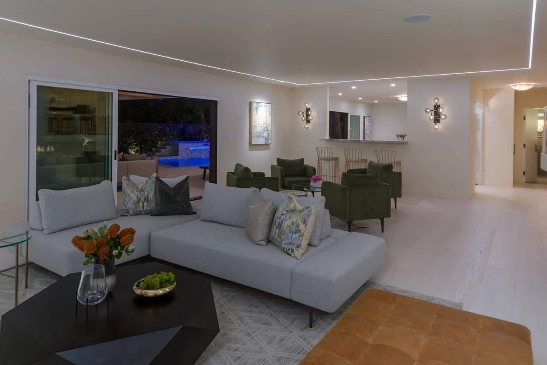 Living room recessed LED lighting