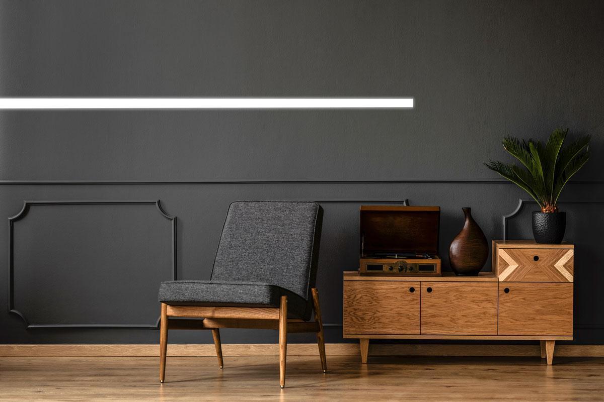 Recessed DEL lighting livingroom