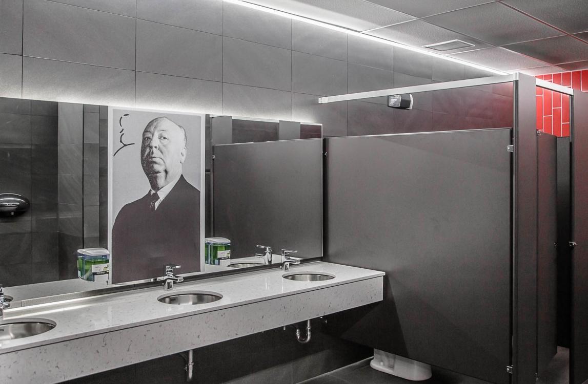 Cinema restroom recessed LED lighting