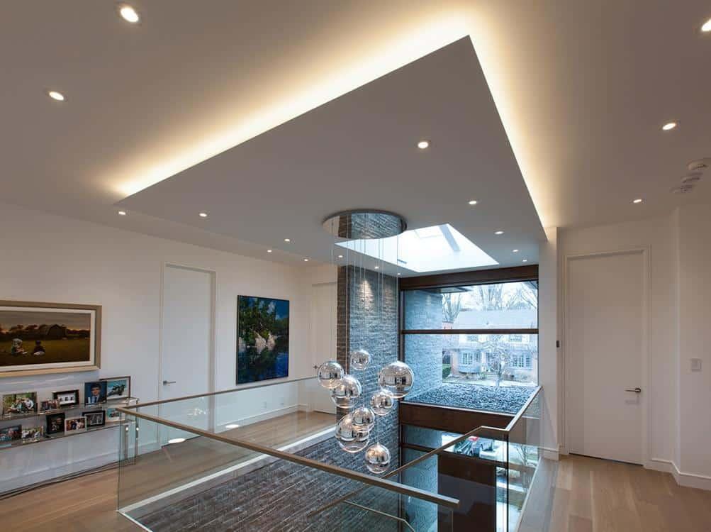 Mezzanine drop ceiling LED lighting
