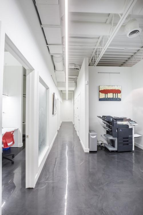 Office hallway lighting
