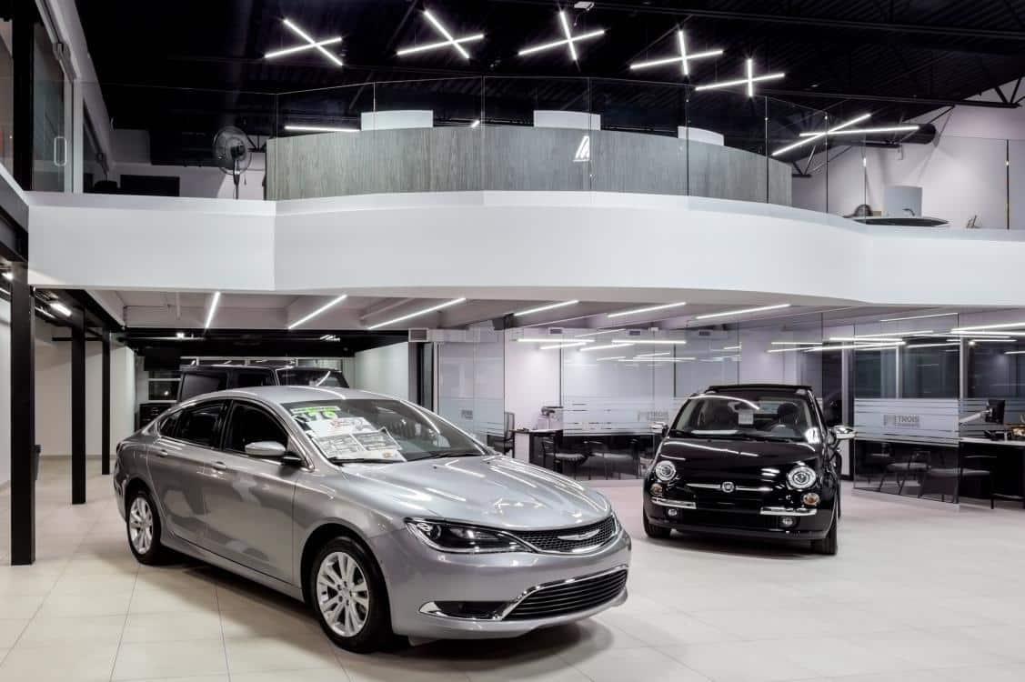 Car showroom LED lighting
