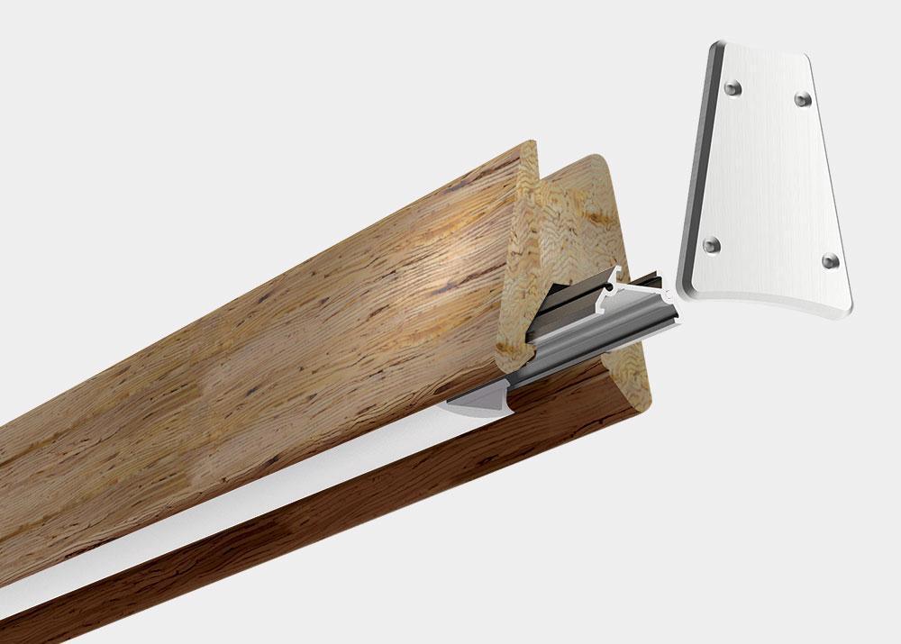 Wood pendant luminaire