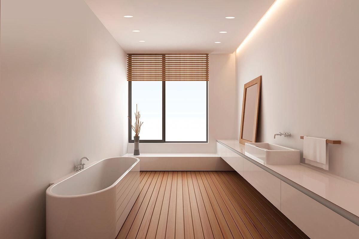 DEL bathroom lighting