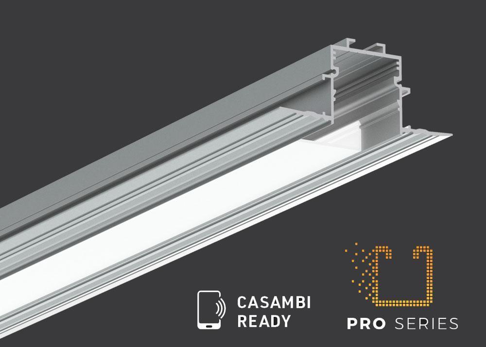 Aluminium recessed profiles for linear LED lighting